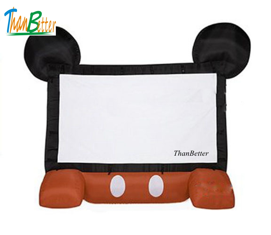 все цены на Hot sale mickey inflatable movie screen advertising, used inflatable movie screen for outdoor use