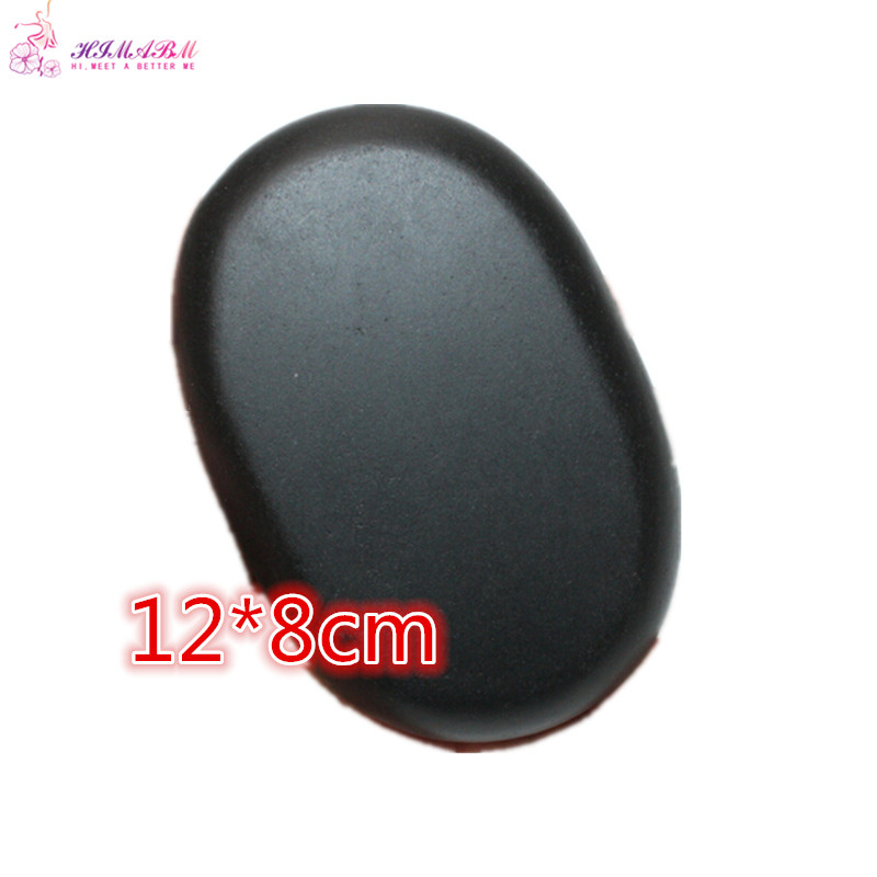 HIMABM 1 PCS 12*8cm Large Size Natrual hot spa black  basalt massage essential oil massage stone volcanic stone energy stone SPA