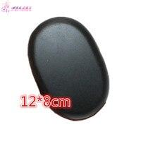 1 PCS 12 8cm Large Size Natrual Hot Spa Black Basalt Stone Massage Essential Oil Massage