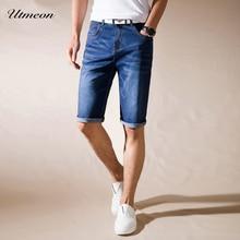 Utmeon Brand Mens Summer Stretch Thin high quality Denim Jeans male Short Men blue black Jeans Shorts Pants