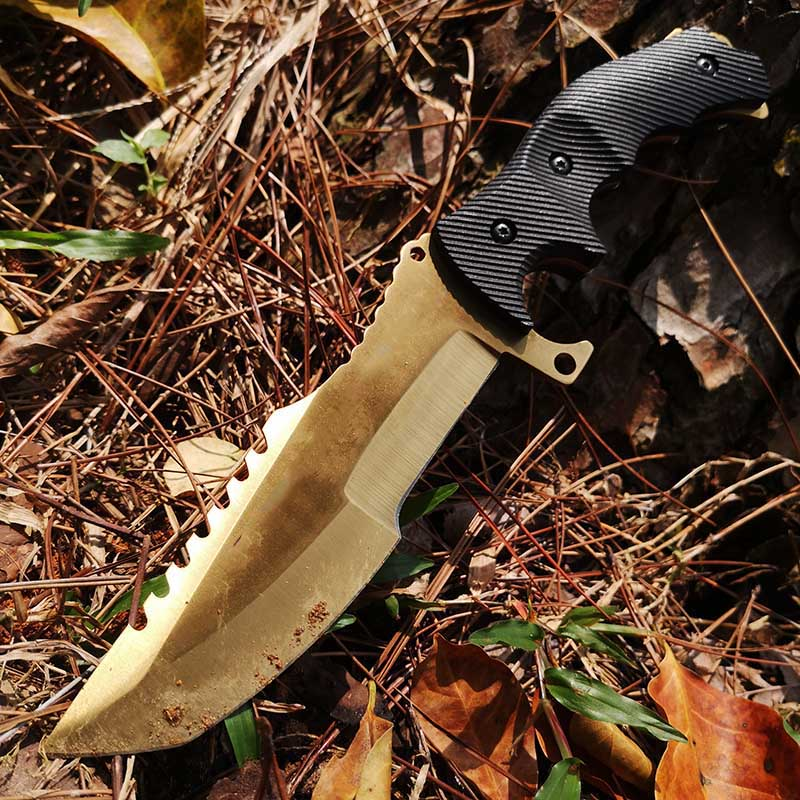 Tools : Tactical Fixed Blade Knife Bowie Hunting Camping Fishing Boating Staright KnifeSurvival Knife for Outdoor
