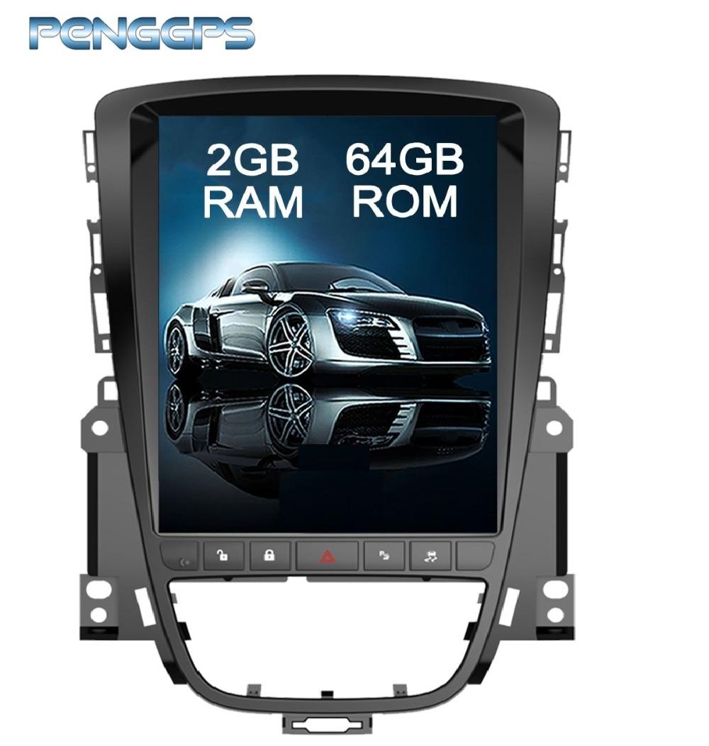 アンドロイド 7.1 テスラスタイル 10.4 インチ GPS ナビゲーション DVD プレーヤーオペル Vauxhall Holden アストラ J/ビュイック Excelle の 2010  2013 ヘッドユニット  グループ上の 自動車 &バイク からの 車用マルチメディアプレーヤー の中 1