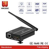 HWCODEC wireless mobile wifi hdmi video encoder live streaming cvbs wifi hd av iptv encoder video transmitter in youtube wowza