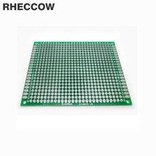 RHECCOW 20 шт 5x7 см 5*7 см 1,6 мм стекло-эпоксидная FR-4 прототипирование лужение Оловянная односторонняя универсальная печатная плата