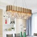 Neue luxus kristall kronleuchter moderne beleuchtung für wohnzimmer esszimmer gold kristallen kroonluchter led leuchten Pendelleuchten    -