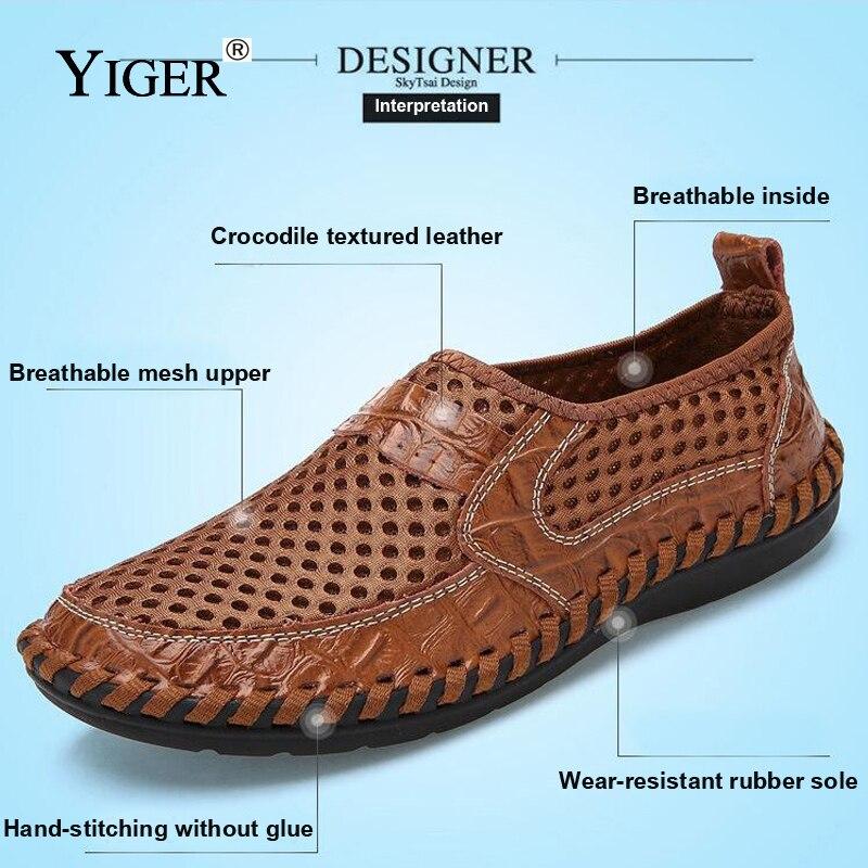 YIGER Novi muškarci Neto obuća Genuine Leather Summer Casual - Muške cipele - Foto 3