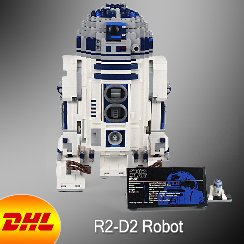 HF Star Wars Figure 2127Pcs The R2-D2 Robot Model Building Kit Blocks Bricks Educational Toy For Children Compatible With 10225 oenux wrestlemania wrestling weightlifting gym model the wrestler athlete figure building blocks bricks toy for boy s gift