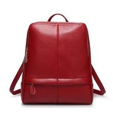 Women Genuine Leather Backpacks Vintage Preppy Style Schoolbag For Teenage Girl Travel bags Ladies Backpacks Mochila 2016 New цена 2017