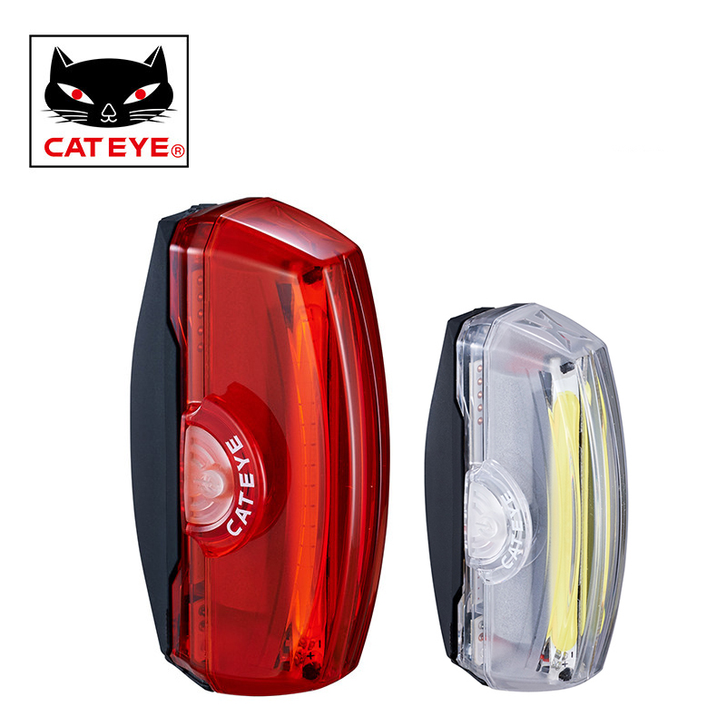 CATEYE Bicycle Taillight Usb rechargeable LED Bike Tail Tube Rear Light MTB Mountain Road Bike Warning