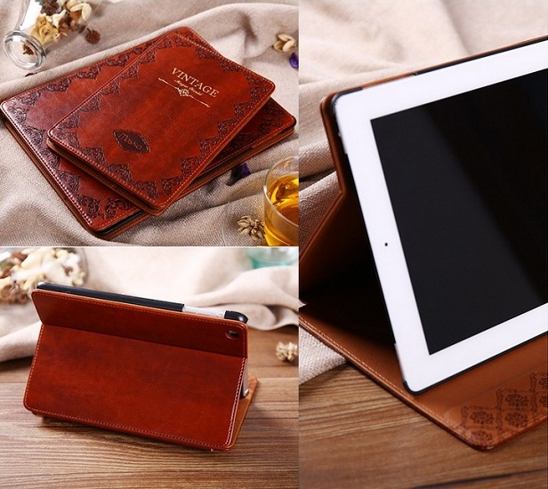 все цены на Solque PU Leather Tablet Case for iPad Mini 2 Mini2 7.9 inch Retro Vintage Flip Hard Shell Cover Luxury Book Ultra Slim Cases онлайн