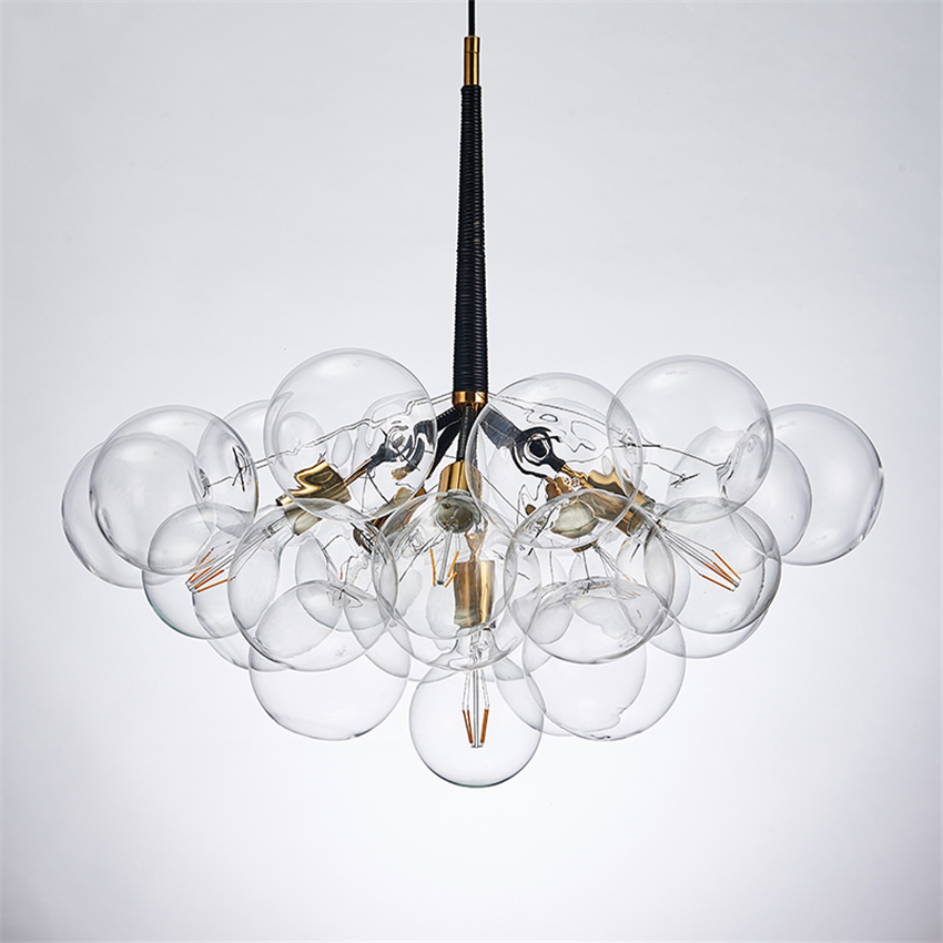 Nordic Glass Molecular Lamp Pendant Lights Hanging Lamp Led Kitchen Dining&pendant Lamp Hotel Lobby Restaurant Lighting Fixtures|Pendant Lights| |  - title=