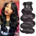 """Brazilian Virgin Hair Body Wave Grade 8A Hair 3PCS/lot Brazilian Body Wave 6""""-28"""" Soft Brazilian Hair Weave Bundles No Shedding"""