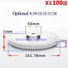 XL100 100 зуб шкив алюминиевый 3D части принтера 100XL 100 зубы ширина 11 мм синхронный шестерня