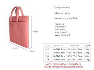 Image 5 - Laptop Tas Nylon Waterdichte Laptop Case Business Laptop Sleeve Voor Vrouwen 13.3 14.1 15.6 inch voor Macbook Pro Case Mannen