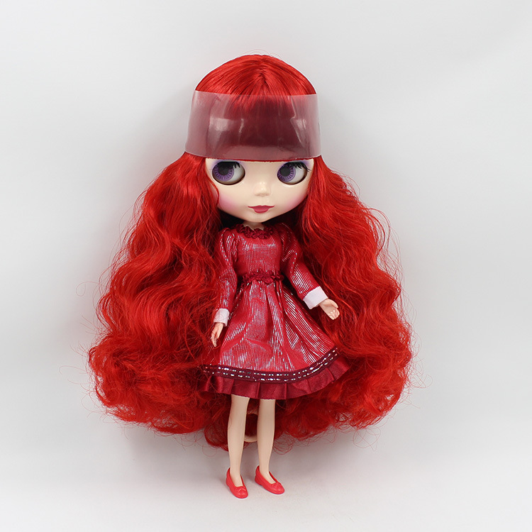 Aliexpress.com : Buy red long hair Blyth Doll nude DIY toy ...