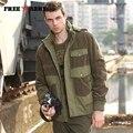 Freearmy marca militar chaqueta corta abrigo hombres chaquetas y abrigos de invierno de espesor caliente sombrero desmontable hombres clothing ms-7052a