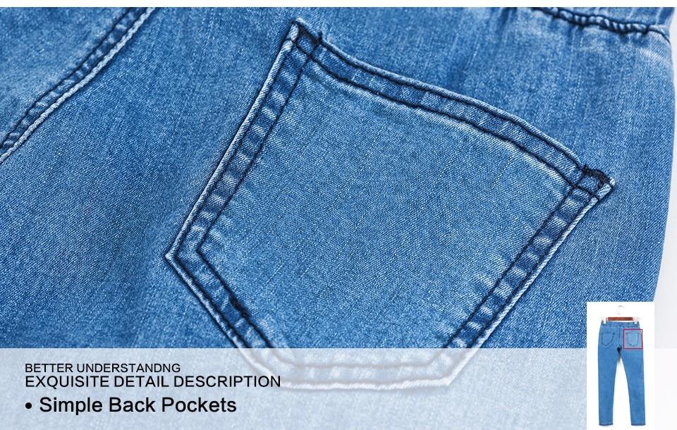 Women Plus Size Casual Slim Stretch Cotton Denim Jeans Blue black 48