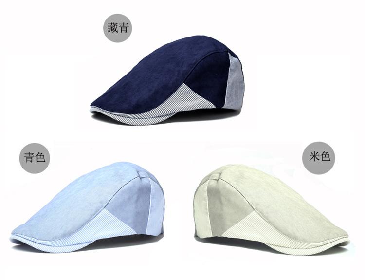 e70b8bee090cc9 2019 Male Flat Cap Men Winter Chapeau Women Newsboy Cap Female Beret Hat  Femme Bone Sell Black Blue Coffee White Color