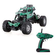 Remote Control Vehicle 1/16 2.4G 4WD RC Car Double Steering Waterproof Rock Crawler Off-road RTR Toy(China)