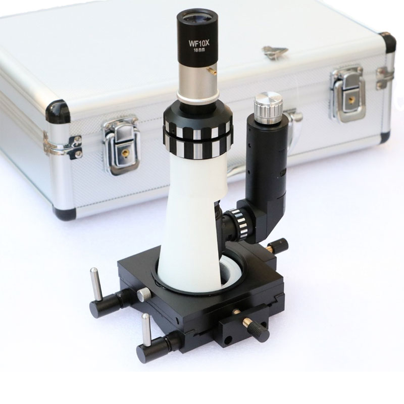 Polarizing Light Microscope Handheld Diagnost Equipment Portable Metallographic Microscope with Magnetic Base Polarizer-in Microscopes from Tools
