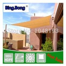 sluneční clonka síťovina balkon slunce plachta HDPE 3 * 4m 4 rohy čtverec oblouk altán pro zahradu toldo anti uv opalovací krém venkovní
