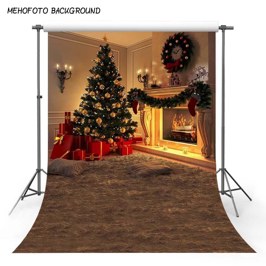 MEHOFOTO Weihnachten Baum Geschenk Kerze Flitter Holz Boden Blume Kranz Kinder Foto Hintergründe Fotografie Kulissen Foto Studio