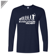 fall fashion New Men Cotton leisurely loose O-neck long Sleeve  T Shirts Human evolution and growth Of Archery printing T-shirts growth and yield of t aman rice varieties