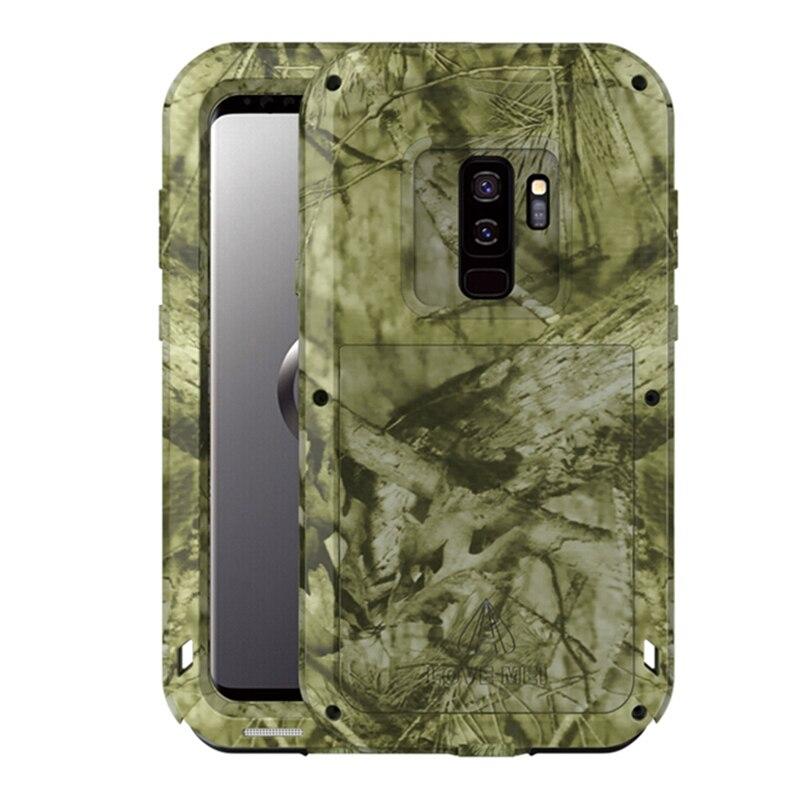 Металлический камуфляжный чехол LOVE MEI для Galaxy S9 Plus, алюминиевый защитный чехол, мощный ударопрочный чехол для Samsung Galaxy S9 S9 Plus