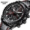 BOYZHE Horloge Mannen Luxe Waterdicht Kalender Mode Zakelijke Horloge Mannen Casual Lederen Mechanische Horloges Zelf Wind Klok montre