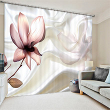 Luxury flowers 3D Blackout Window Curtains For Living room Bedding room Home Decor Tapestry Wall Carpet Drapes Cotinas