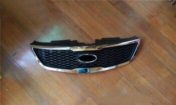 Asli ABS Chrome Depan Grille Di Sekitar Trim Balap Pemanggang Trim untuk 2009-2010 2012 Kia Forte