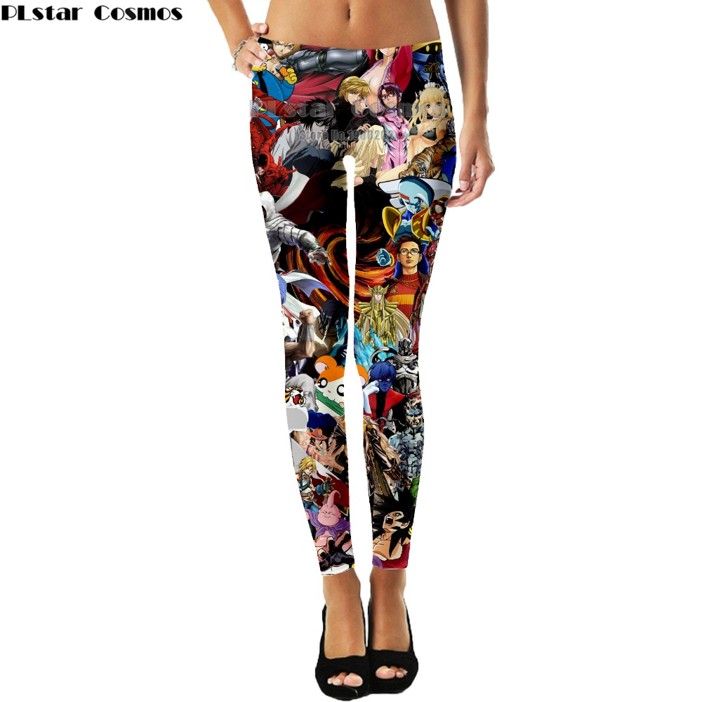 PLstar Cosmos Anime Harajuku Style leggings Harajuku Style Popular Brand 3D Full Print Summer Women New Style drop shipping