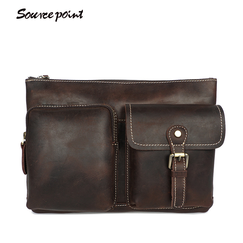 YISHEN Vintage Crazy Horse Leather Men's Crossbody Bags Handmade Male Shoulder Bags Casual Business Messenger Bags YD-8085 yishen vintage casual crazy horse leather men shoulder crossbody bags business male handbags briefcase messenger bags mlt8072