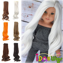 1pieces Extension Doll Wigs 25*100cm Multicolor Curly Hair for BJD/SD Russian Handmade