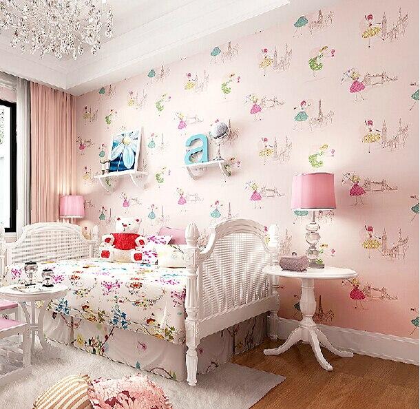 Aliexpresscom Buy Modern Cartoon Dancing Girl Wallpaper Girls - Blue wallpaper for girls bedroom