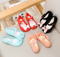 Mini Melissa Bow Children Shoes Jelly Shoes Soft Girls Sandals Bottom Melissa Princess Girls Baby Girl Sandals High Quality