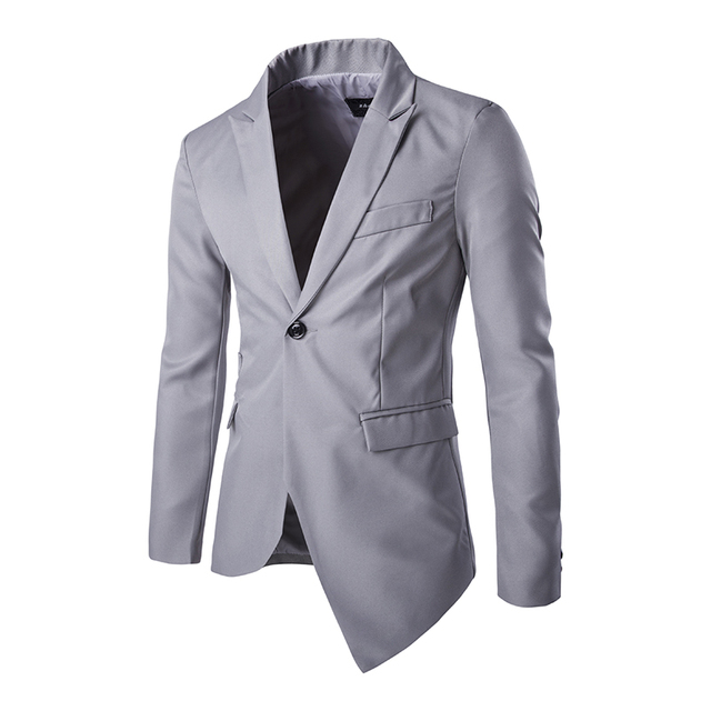 40 Fashion New Blazers Pattern Men Asymmetry Slim Fit Long Sleeve Awesome Mens Blazer Pattern