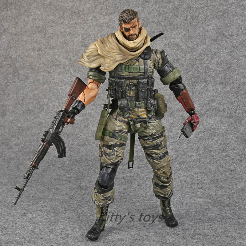 PlayArts KAI Metal Gear Solid V The Phantom Venom Snake PVC Action Figure Collectible Model Toy 27cm Free shipping kb0225 playarts kai star wars darth maul pvc action figure collectible model toy 28cm free shipping kb0276