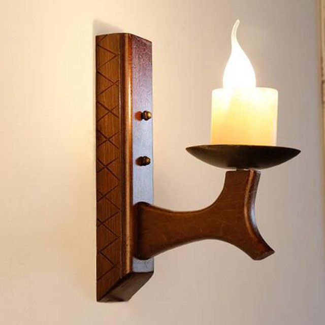 Vintage Candle Wall L& Solid Wood Base Marble L&shade Wall lightsCreative Retro Industrial Lighting & Vintage Candle Wall Lamp Solid Wood Base Marble Lampshade Wall ... azcodes.com