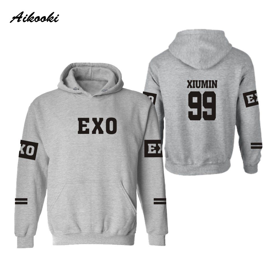 Aikooki EXO Kpop Hooded men/women hoodies sweatshirts Winter sweatshirt Lay Luhan Kai Tao Suho Kris Chen Xiumin Sehun Clothes