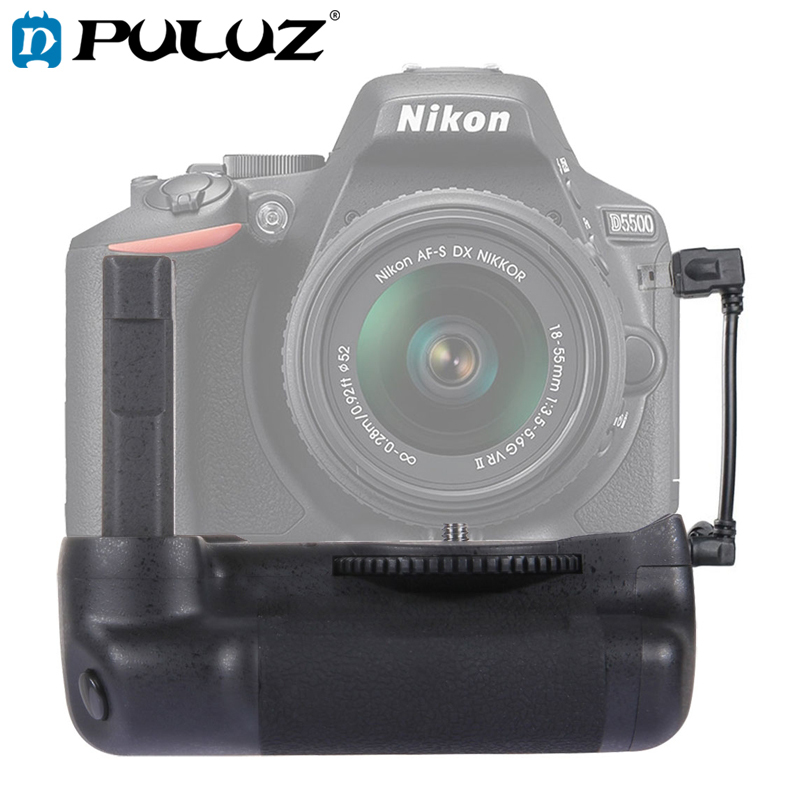 PULUZ Battery Grip For Nikon Vertical Camera Battery Grip For Nikon D5500 Digital SLR Camera Free Gift Camera Strap