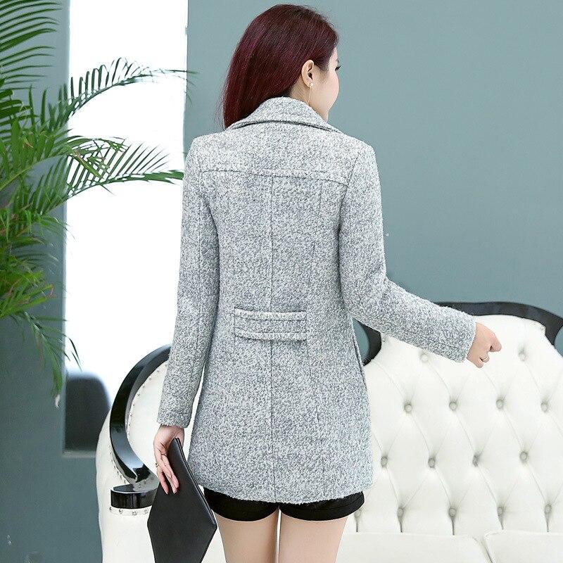 Tempérament 2017 Épais Slim Hiver Haute Noble En De Automne Laine Qualité 1 Et Nouveau Femmes Femme A490 Mode Pour Manteau rq7Pnxr6w