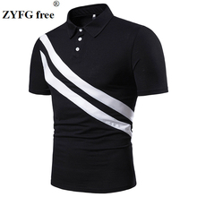 ZYFG free men polo shirt spring and summer male short sleeve casual tops simple style