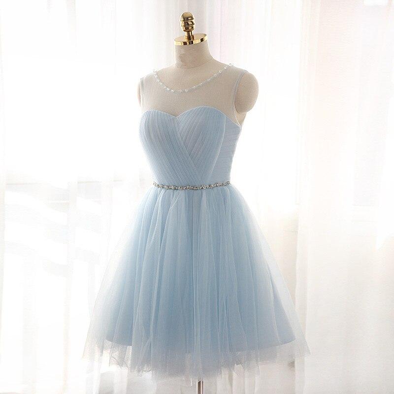 Popular Short Light Blue Prom Dresses-Buy Cheap Short Light Blue ...