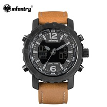 Мужские часы в Военном Стиле, светодиодный, цифровой, кварцевые, мужские, s часы, лучший бренд, Роскошные, тактические, армейские, авиаторы, кожа, Relogio Masculino