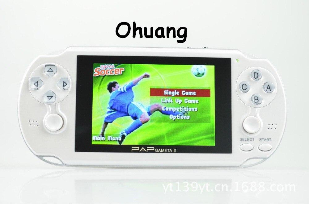 Spiele Verbesserte 64bit Dual Controller Tv Out 4,1 16:9 Tft Bildschirm, Mp4 Pap Gameta Ii Plus Videospiel-konsole Mit 300 Mp3 äRger LöSchen Und Durst LöSchen