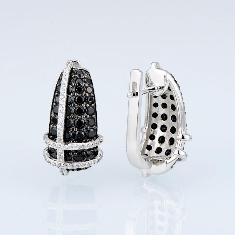 E303053BSNZSK925-SV3-Silver Earrings