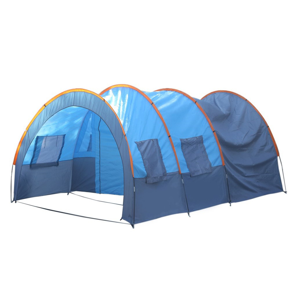 Quick Installation 2 Room 1 Hall 5 Window 8-10 People Waterproof Outdoor Garden Fishing Hiking Camping Tent drop shipping 2 people portable parachute hammock outdoor survival camping hammocks garden leisure travel double hanging swing 2 6m 1 4m 3m 2m