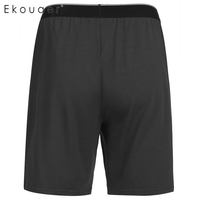 Ekouaer Casual Loose Men Pijama Shorts Summer Sleepwear Comfort Pajama Bottoms Sleep Short Pant Nightwear Underpants Homewear