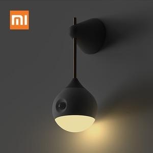 Image 1 - شاومي Mijia Sothing ضوء الليل الذكية الاستشعار المحمولة الأشعة تحت الحمراء التعريفي USB شحن للإزالة ليلة مصباح شاومي المنزل الذكي